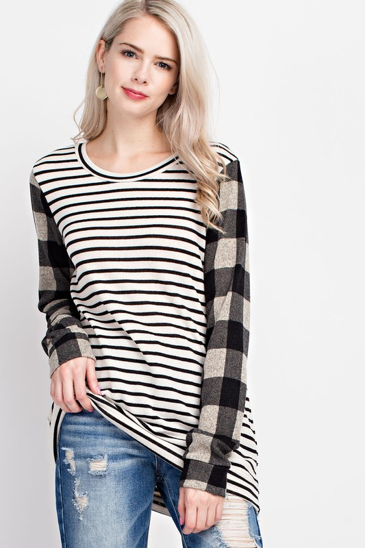 One Sweet Day Striped Top - Ivory