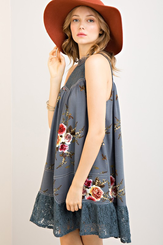 Golly Miss Molly Floral Shift Dress