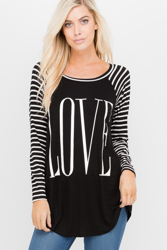 Plus Size Love Is In The Air Top