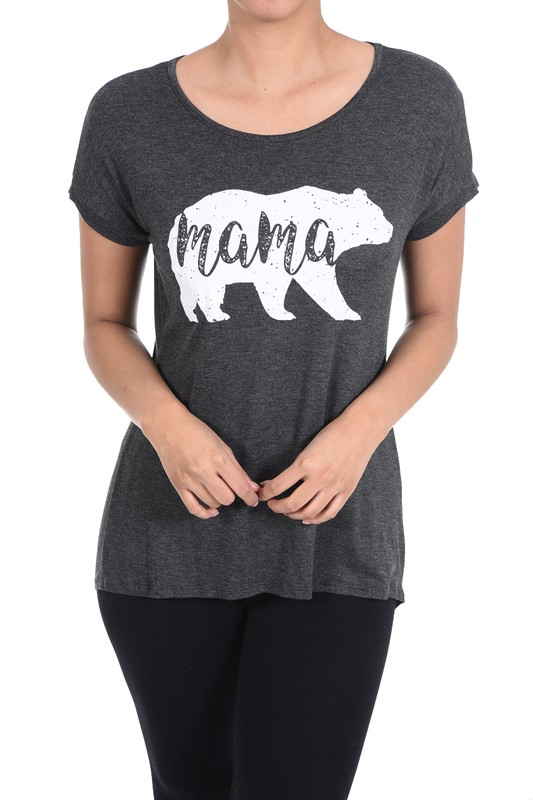 Plus Size Mama Bear Graphic Tee