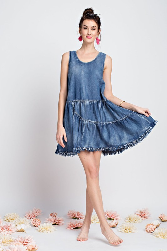 Wake Up and Go Denim Dress