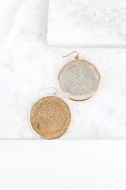 Intricate Circles Earrings- Gold or Silver