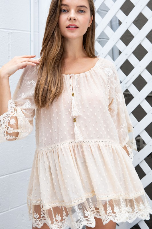 Sure Thing Flowy Swiss Dot Tunic
