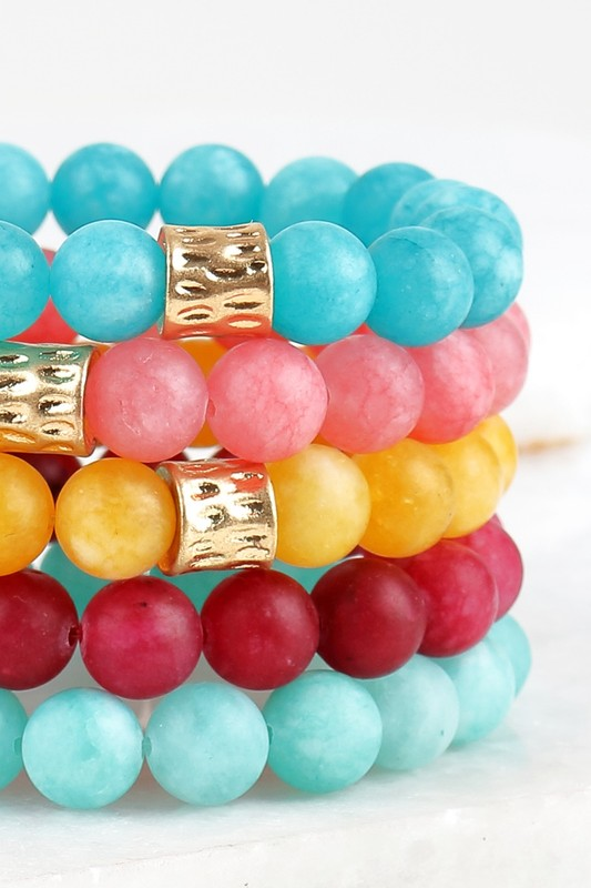 Cloud Stone Bead Bracelet - More Colors