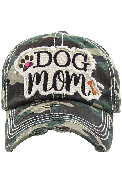 Dog Mom Baseball Cap - Camouflage