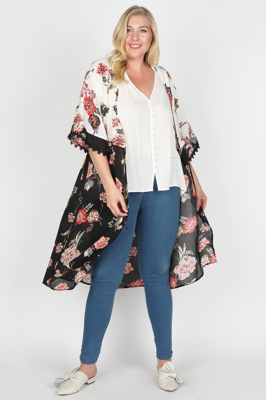 Plus Size Going After What I Want Long Kimono
