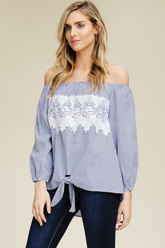 Cloud Nine Stripe Top