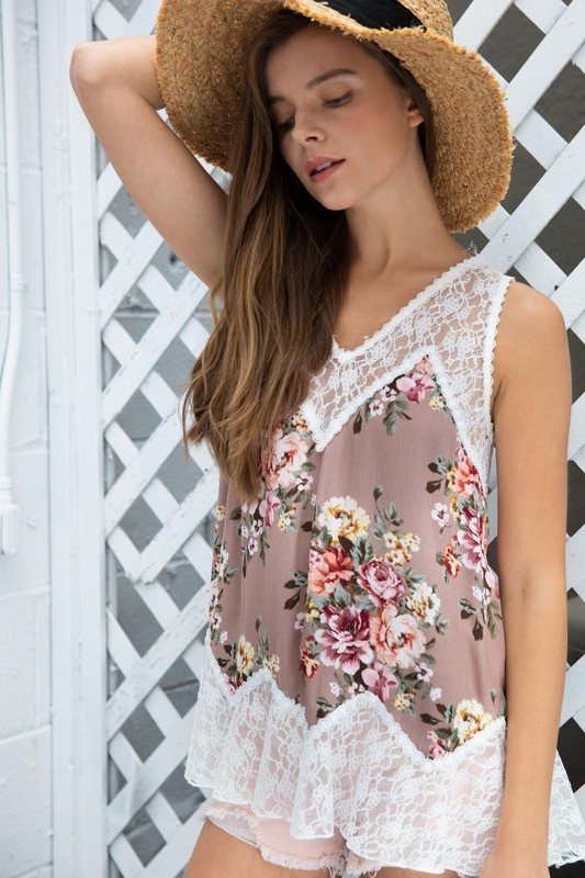 Briar Rose Mauve Babydoll Top by POL
