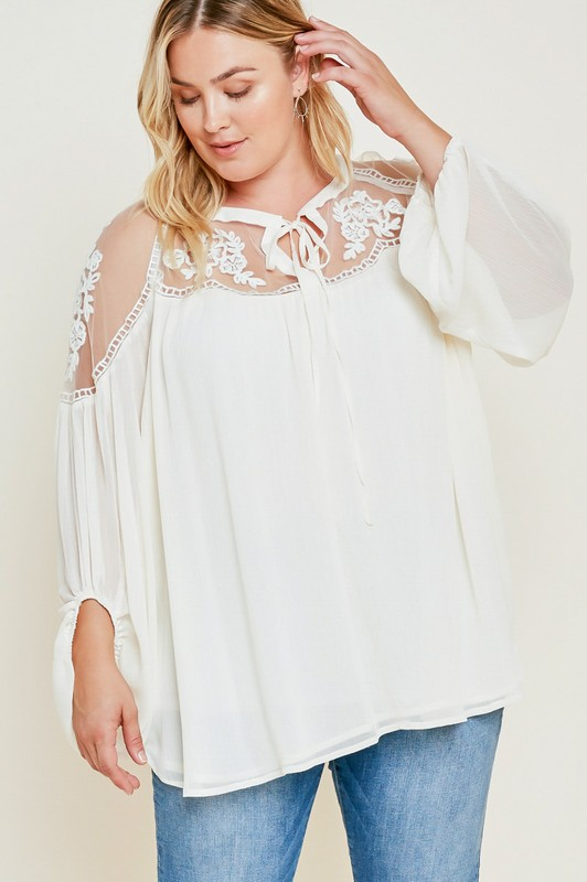 Plus Size Always Peasantly Surprised Holiday Top