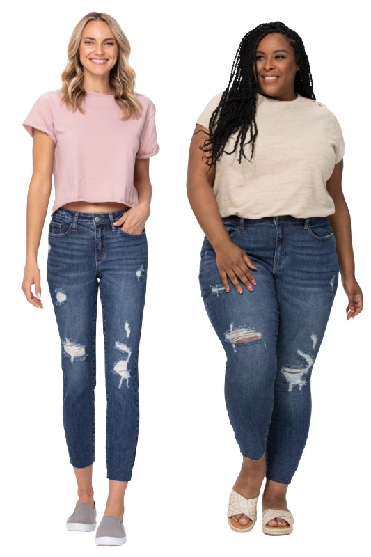 Judy Blue Mid-Rise Vintage Cut Off Jeans