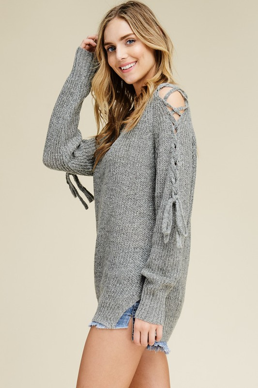 Fall Into Fall V Neck Sweater