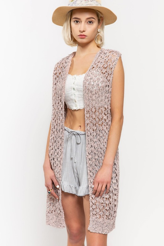 Living Free Cardigan Vest by POL Clothing