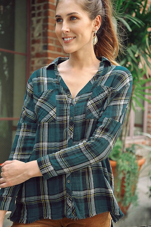 Farmer's Daughter Plaid Top - Teal