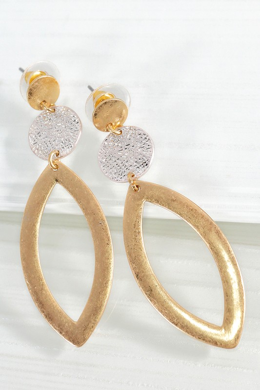Marquee Dangle Earrings - Gold