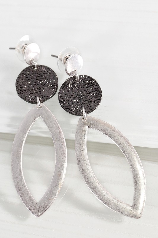 Marquee Dangle Earrings - Silver