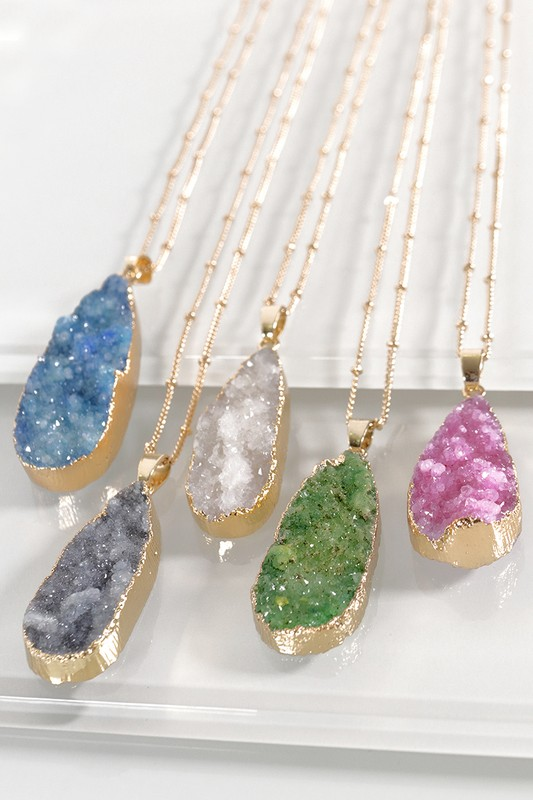 Druzy Sunburst Necklace - More Colors