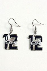 12 Seahawks Logo Earrings