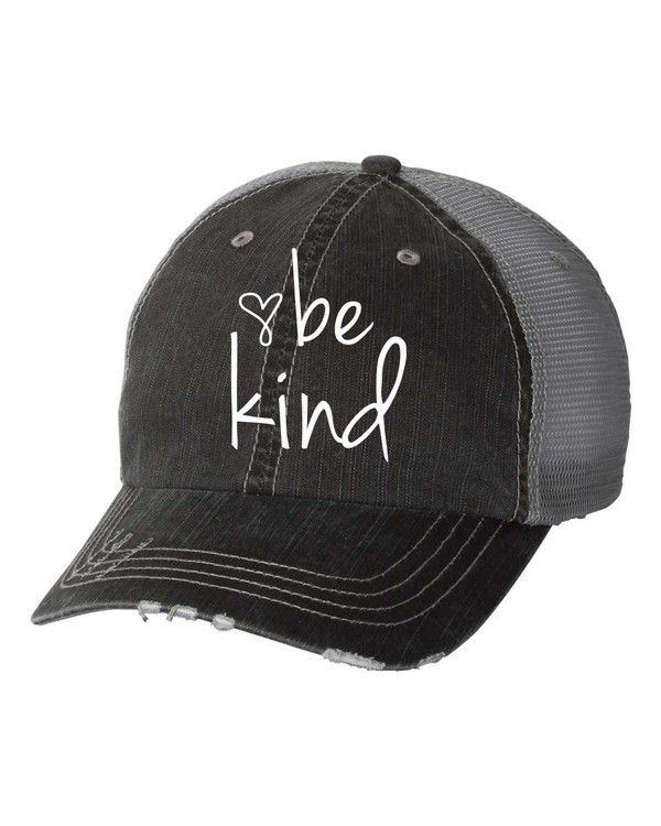 Be Kind Distressed Trucker Hat