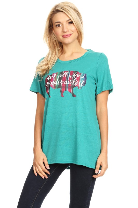 Plus Size Not All Who Wander Graphic Tee