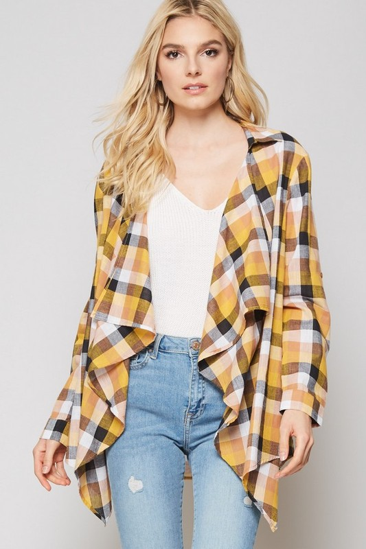 Good As Gold Checkered Jacket
