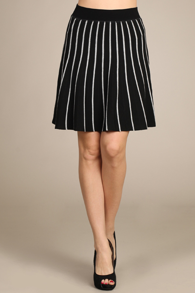 M. Rena Pin Striped Gore Skirt