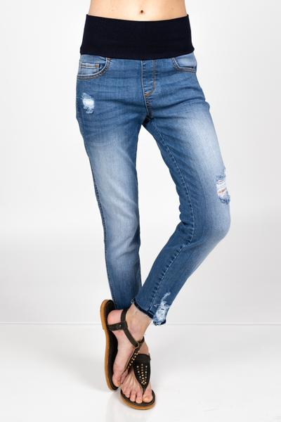 Raw Edges High Wasit Denim by M. Rena