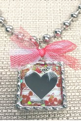 Hello Love Pendant Necklace with Floating Charms