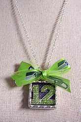 12th Man Green Crystal Pendant