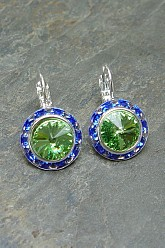 Blue and Green Seahawks Inspired Earrings