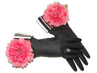 Diva Dish Gloves� Domestic Goddess!-diva dish gloves, pink peony, kitchen fashionista, best gifts, umbrella stripe