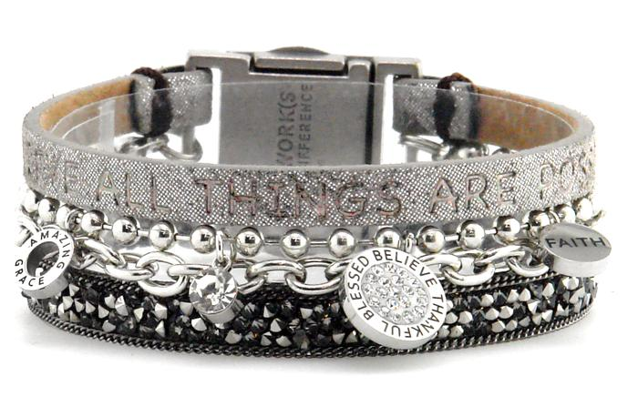 Good Works Fearless Quad Bracelet - Galaxy Charcoal