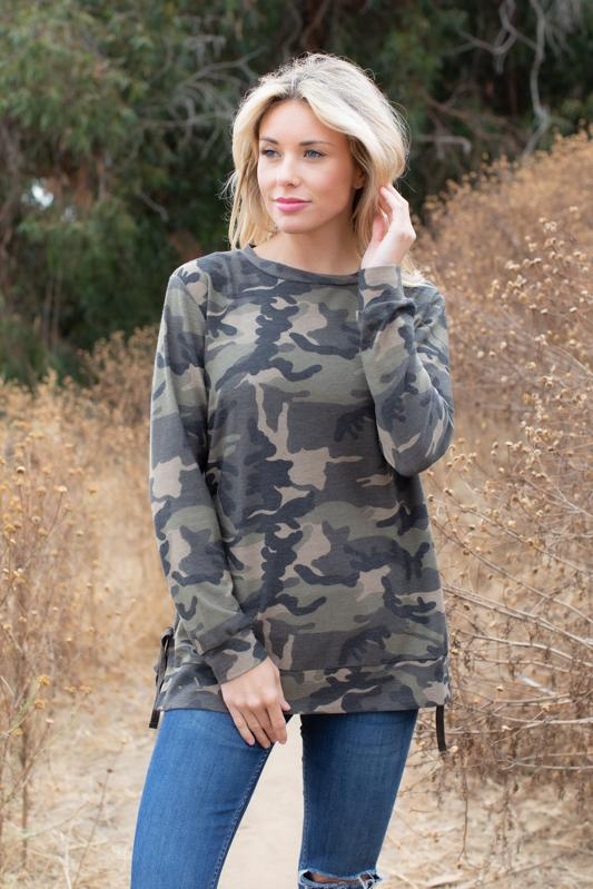 Cute and Carefree Camouflage Sweatshirt