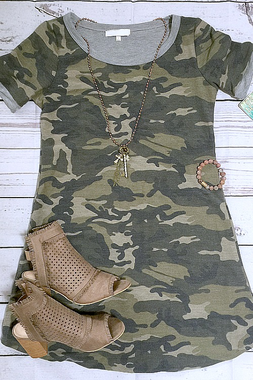 What's Up Camo T-Shirt Dress