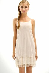 Circle Lace Dress Extender Slip -Ivory
