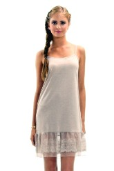 Circle Lace Dress Extender Slip -Mocha