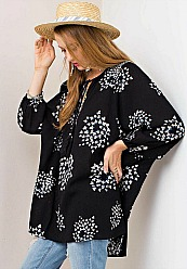La Vie En Rose Tunic - Black