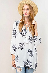 La Vie En Rose Tunic - White