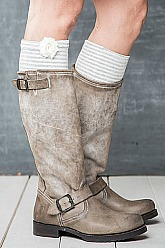 Little Boot Peep® Boot Topper - Stripe Flora Love