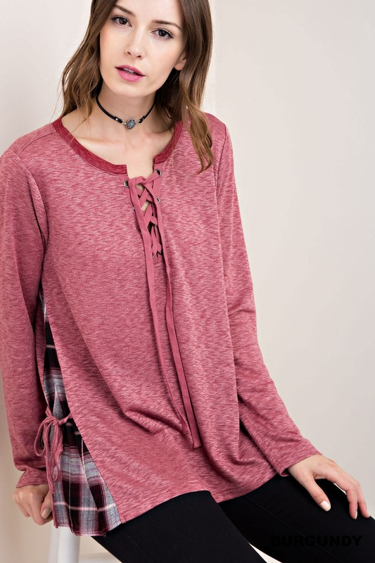 French Terry Top - Burgundy