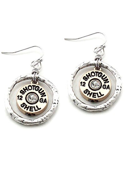 Shotgun Shell Earrings - Two Tone