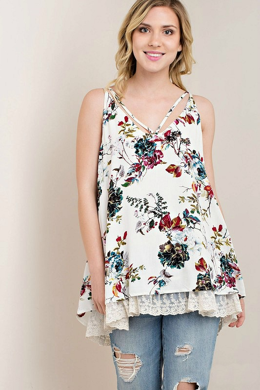 Lovely Life Floral Top - Ivory
