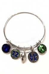 Seahawks Inspired Charm Bangle