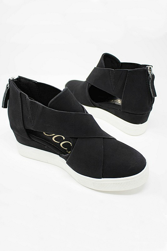 Ccocci Melody Black Wedge Sneakers