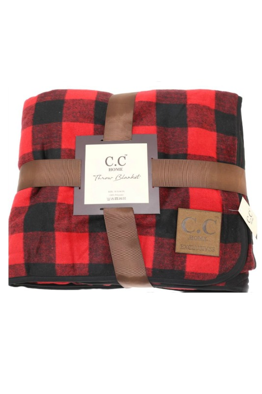 CC Home Exclusives Buffalo Check Blanket