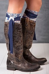 Little Boot Peep® Boot Topper - Concho Villa Blue