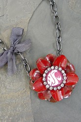Go Cougs Flower - Chunky Chain