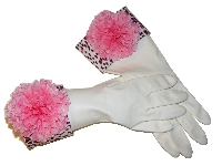 Diva Dish Gloves� Flirty Dishes!-hit of the party, zebra cuff, flower accent, diva dish gloves, best gifts