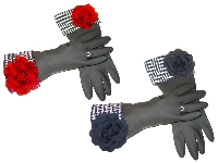 Diva Dish Gloves� Glamour Girl!-diva dish gloves, dishgloves, dishwashing gloves, houndstooth cuff, red or black rose