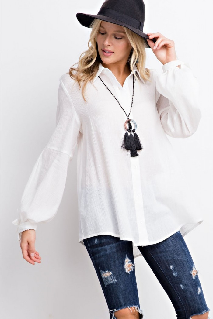 Modern Button Down Blouse