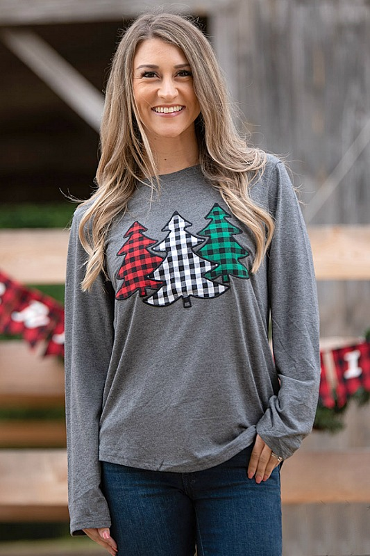 Festive Forest Holiday Top